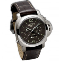 Officine Panerai watches Luminor 1950 8 Days Chrono Monopulsante GMT (Ti / Black / Leather)