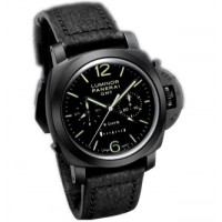 Officine Panerai watches Luminor 1950 8 Days Chrono Monopulsante GMT (Ceramic / Black / Leather)
