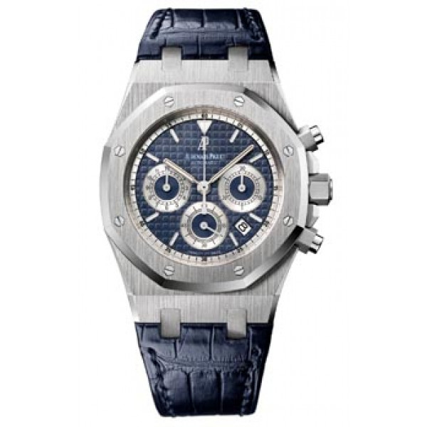 Audemars Piguet watches Royal Oak Chronograph (WG / Blue/ Leather)