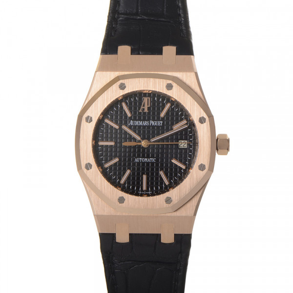 Audemars Piguet watches Royal Oak Date (PG / Black / Black Leather)