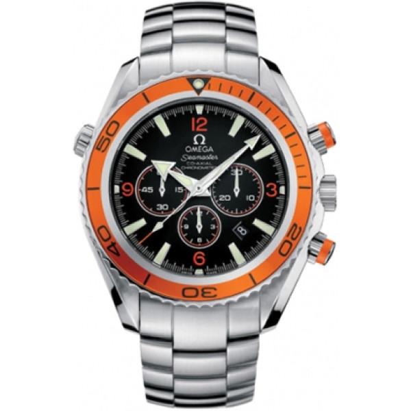 Omega watches Omega  Planet Ocean Chronograph (Steel / Orange / Steel)
