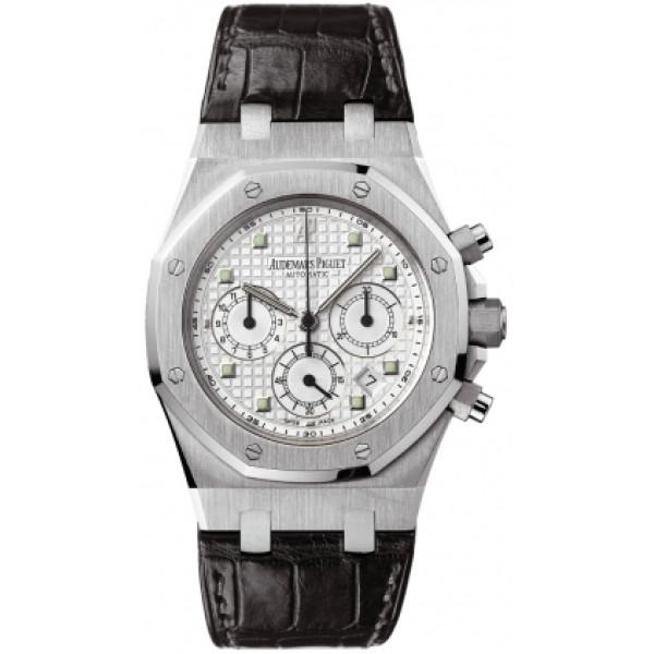 Audemars Piguet watches Royal Oak Chronograph (WG / White / Leather)