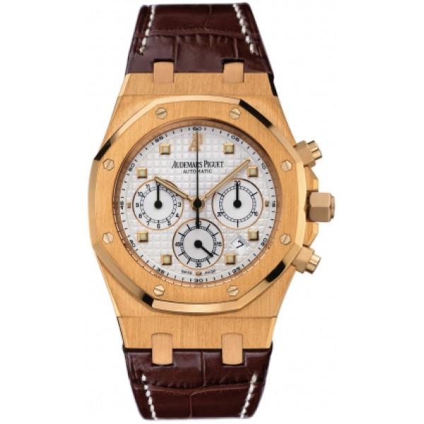 Audemars Piguet watches Royal Oak Chronograph (18kt PG / White)