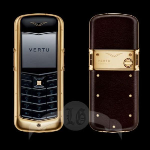 Vertu Constellation 18-каратное жёлтое золото, коричневая кожа, керамика