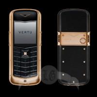 Vertu Constellation 18-каратное розовое золото, чёрная кожа, керамика