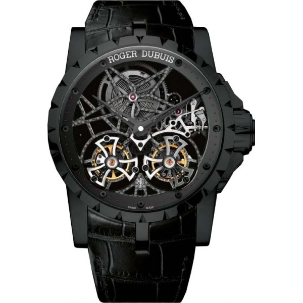 Roger Dubuis watches Skeleton Double Flying Tourbillon in black titanium Limited edition 88