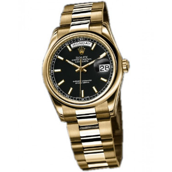 Rolex watches Day-Date 36mm President Yellow Gold - Domed Bezel -Oyster