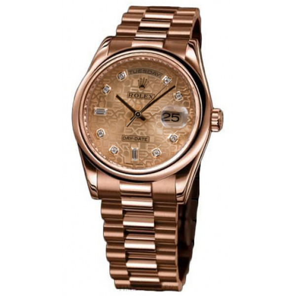 Rolex watches Day-Date 36mm President Pink Gold - Domed Bezel