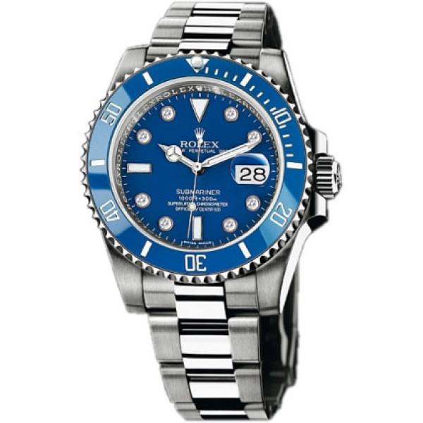 Rolex watches Submariner White Gold