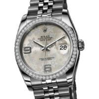 Rolex watches Datejust 36mm - Steel White Gold Diamond Bezel - Jublilee