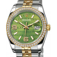 Rolex watches Datejust 36mm - Steel and  Yellow Gold Diamond Bezel - Jublilee