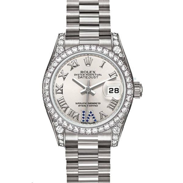 Rolex watches Datejust Lady 26 mm - White Gold Diamond Bezel - President