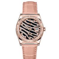 Rolex watches Datejust 36mm - Rose Gold - Diamond Bezel - Leather