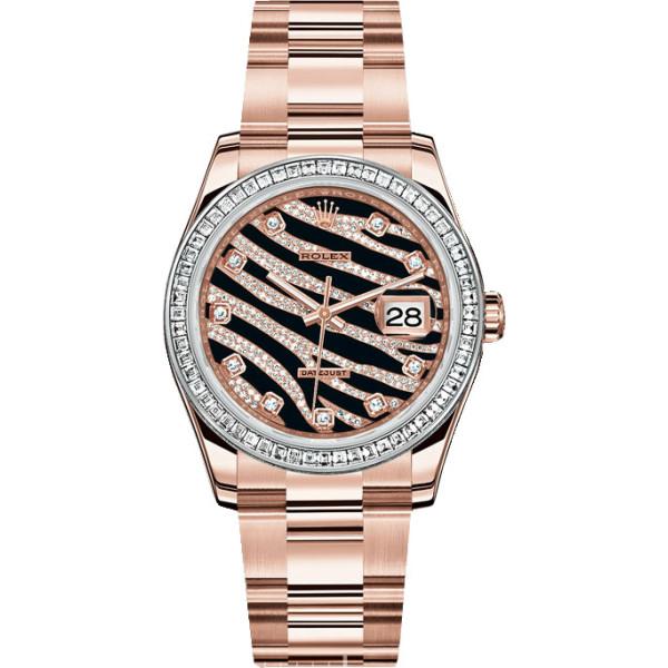 Rolex watches Datejust 36mm - Rose Gold - Diamond Bezel - Oyster
