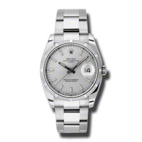Rolex watches Date 34mm Engine Turned Bezel - Oyster Bracelet