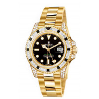 Rolex watches GMT Master II Yellow Gold Black Diamonds