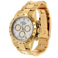 Rolex watches Daytona Yellow Gold - Oysterlock Bracelet white dial