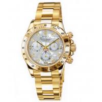 Rolex watches Daytona Yellow Gold - Oysterlock Bracelet mother of pearl dial Diamonds