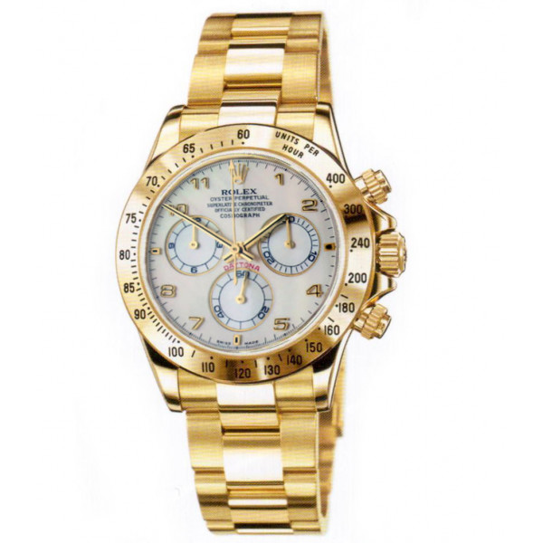 Rolex watches Daytona Yellow Gold - Oysterlock Bracelet mother of pearl dial