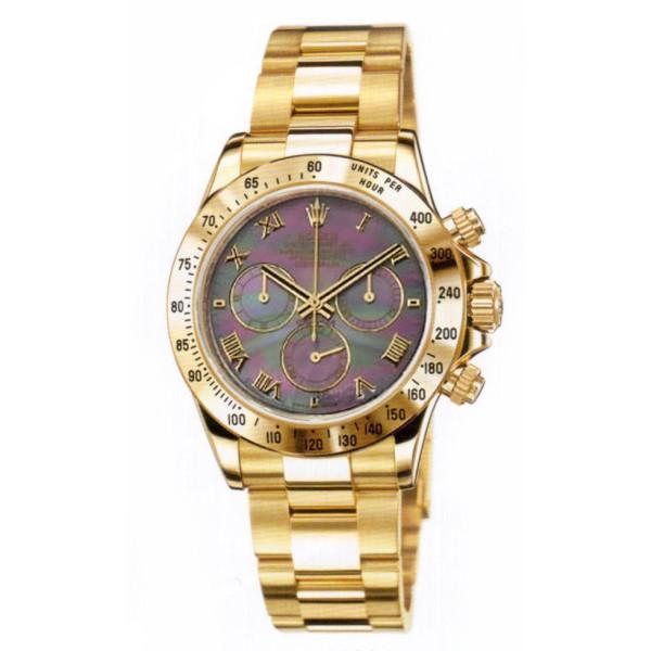 Rolex watches Daytona Yellow Gold - Oysterlock Bracelet Dark Pearl Dial