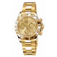 Rolex watches Daytona Yellow Gold - Oysterlock Bracelet Champagne Dial Diamonds