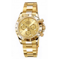 Rolex watches Daytona Yellow Gold - Oysterlock Bracelet Champagne Dial