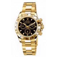 Rolex watches Daytona Yellow Gold - Oysterlock Bracelet Black Dial