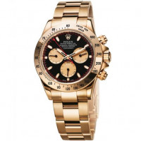 Rolex watches Cosmograph Daytona Yellow Gold black dial with champagne subdials