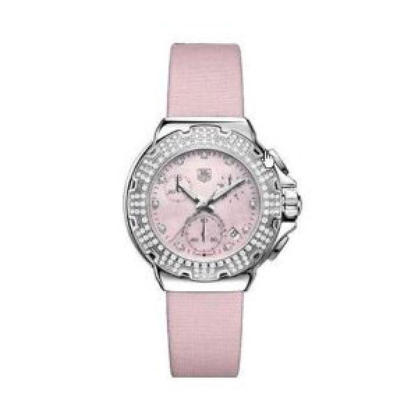 Tag Heuer watches Formula 1 Diamond Chronograph (SS-Diamonds / Pink / Strap)