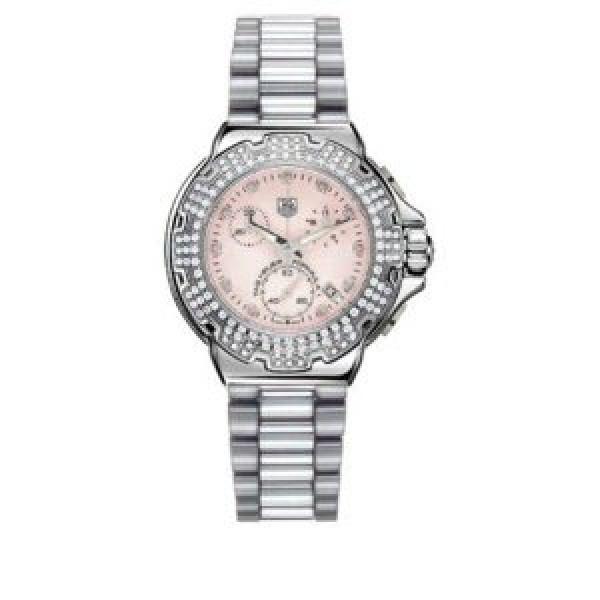 Tag Heuer watches Formula 1 Diamond Chronograph (SS-Diamonds / Pink / SS)