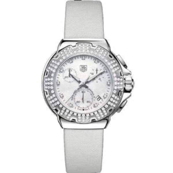 Tag Heuer watches Formula 1 Diamond Chronograph (SS-Diamonds / MOP / Strap)