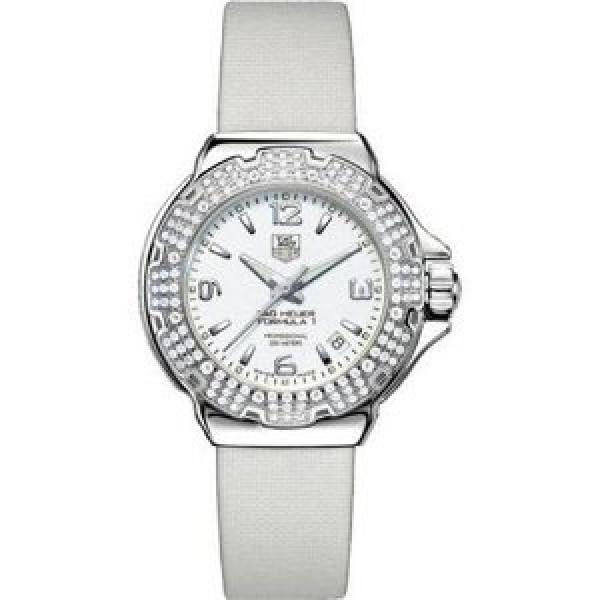 Tag Heuer watches Formula 1 Glamour Diamonds (SS-Diamonds / White / Strap)