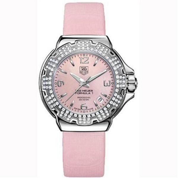Tag Heuer watches Formula 1 Glamour Diamonds (SS-Diamonds / Pink MOP / Strap)