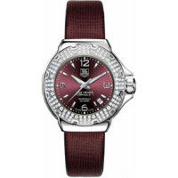 Tag Heuer watches Formula 1 Glamour Diamonds (SS-Diamonds / Maroon / Strap)