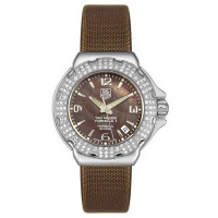 Tag Heuer watches Formula 1 Glamour Diamonds (SS-Diamonds / Brown MOP / Strap)