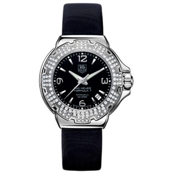 Tag Heuer watches Formula 1 Glamour Diamonds (SS-Diamonds / Black / Strap)