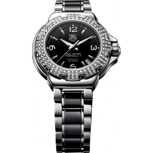 Tag Heuer watches Formula 1 Ladys Ceramic Full  Diamonds