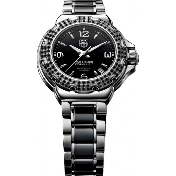 Tag Heuer watches Formula 1 Ladys Ceramic Full Black Diamonds