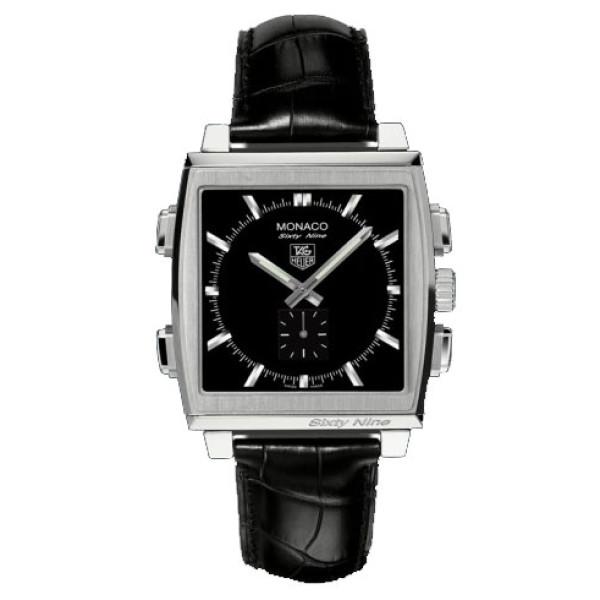 Tag Heuer watches Monaco Sixty Nine (SS / Black / Leather)