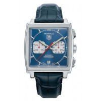 Tag Heuer watches Monaco Automatic Chronograph (SS / Blue / Leather)