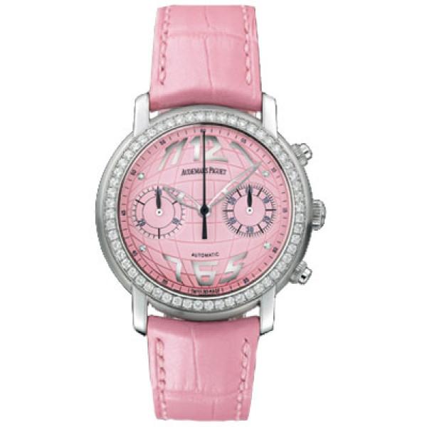 Audemars Piguet watches Jules Audemars Ladies Chronograph (WG-Diamonds / Pink / Leather)