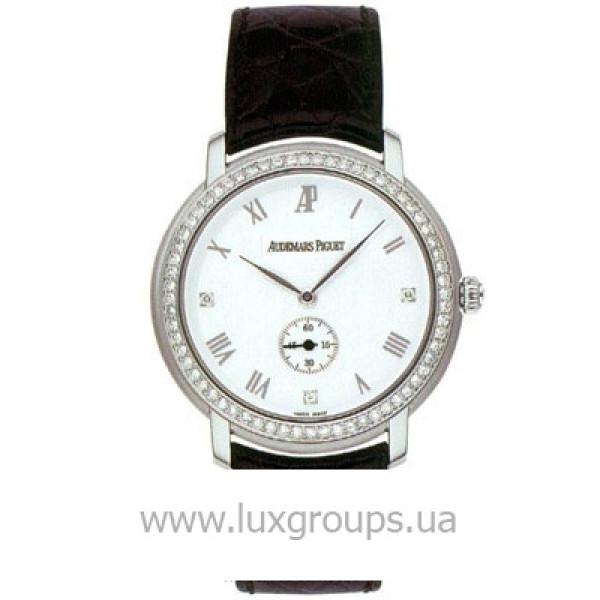 Audemars Piguet watches Jules Audemars Ladies Small Seconds (WG-Diamonds / Silver / Leather)