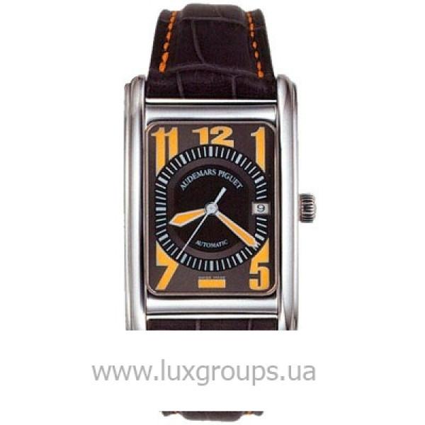 Audemars Piguet watches Edward Piguet Date (WG / Black-Yellow / Leather)