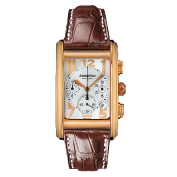 Audemars Piguet watches Edward Piguet Chronograph (PG / Silver-Arabic / Leather)