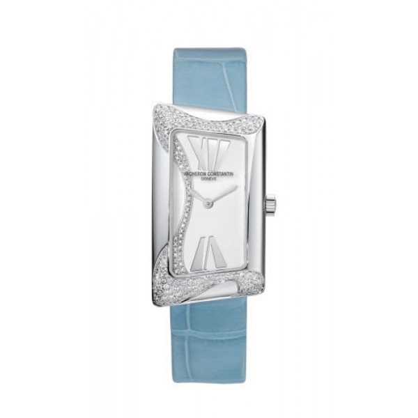 Vacheron Constantin watches 1972 Cambree Small (WG-Diamonds / Silver / Leather)