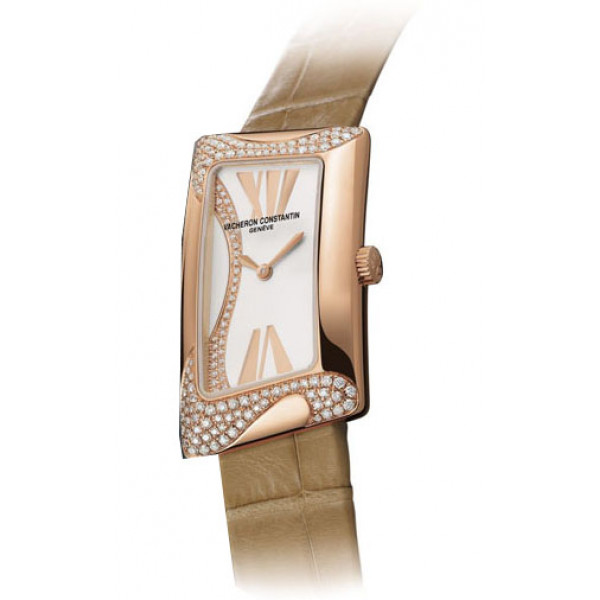 Vacheron Constantin watches 1972 Cambree Small (RG-Diamonds / Silver / Leather)