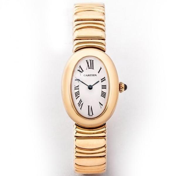Cartier Baignoire Yellow Gold Oval Ladies