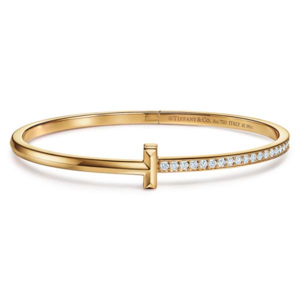 Браслет Tiffany & Co. Tiffany T, желтое золото, бриллианты