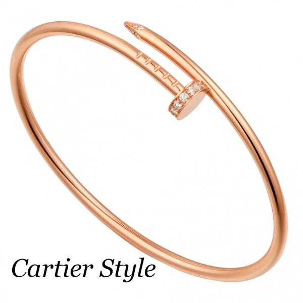 Браслет Cartier Juste Un Clou, желтое золото, бриллианты