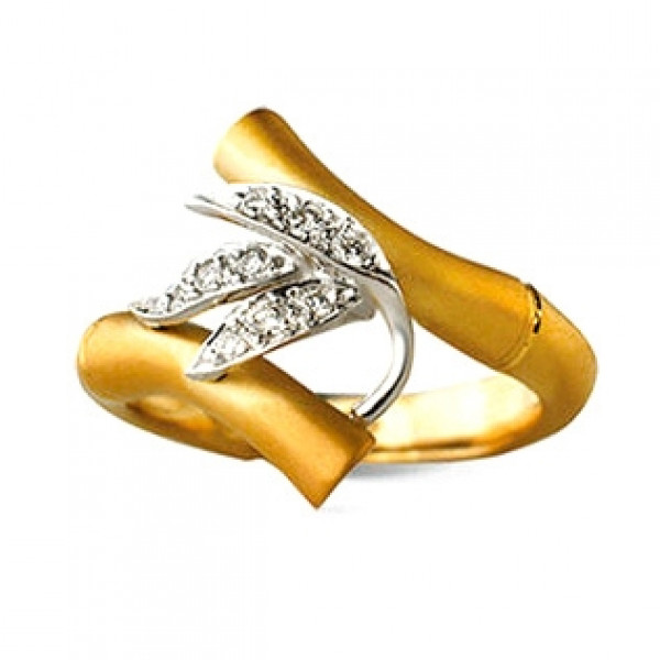 Кольцо Carrera y Carrera Bambu, желтое золото, бриллианты